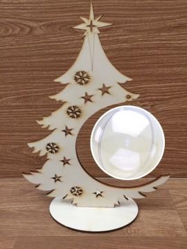 Kit porta sfera albero 35 cm con sfera da 12 cm