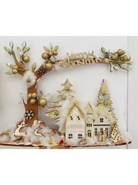Kit albero con case 3D