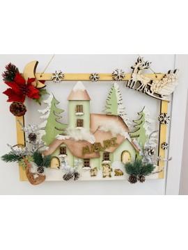 Kit Paesaggio natalizio 3d 40x31 cm