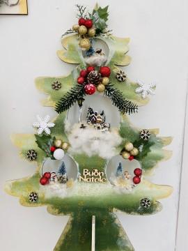 Kit Albero di Natale decorato con miniature 55 cm