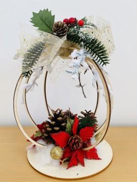 Centro tavola con stella di Natale