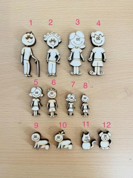Ragazzo/Bambino Figura n 6 Altezza 4 cm spessore 6 mm