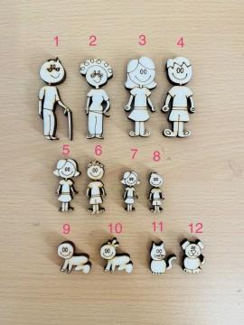 Bambina Figura n 7 Altezza 3 cm spessore 6 mm