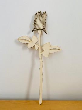 Rosa chiusa in 3d 35 cm