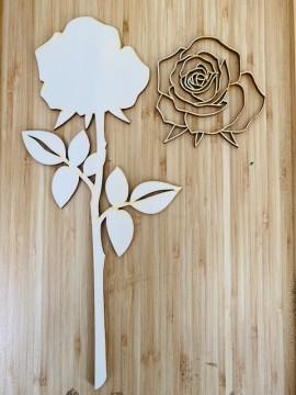 Rosa aperta in 3d 35 cm