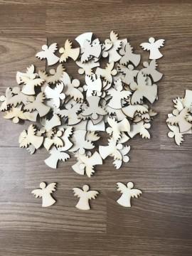 Confezione 60 Angeli in Legno 3cm