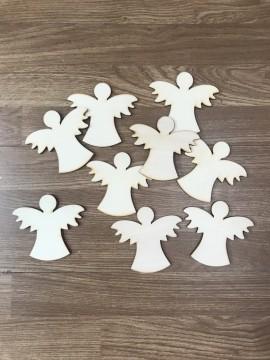 Confezione 40 Angeli in Legno 4/5cm