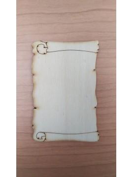 Pergamena 1 10x6.5cm spessore 4mm