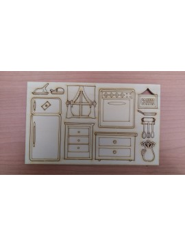 Kit Cucina 22.5x13.5 cm Sp. 3mm