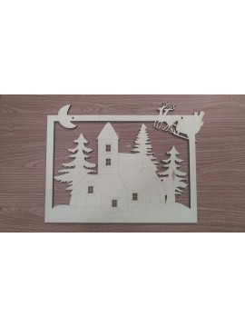 Base Natale Quadro + Kit 3D 40x31.5cm sp 6mm
