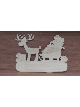 Base Natale Tronco + Kit 3D 28.5x40cm sp6mm