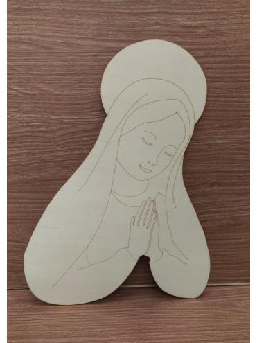 Base Natale Madonna 40x27cm spessore 4mm